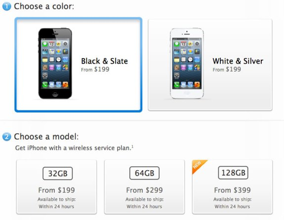 Apple could discontinue the 16GB model and announce a 128GB iPhone 5S.
