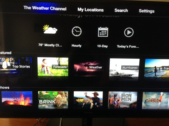 Apple TV Weather Channel