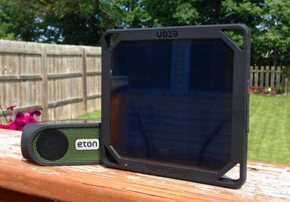 The BoostSolar and Rugged rukus offer portable solar power.