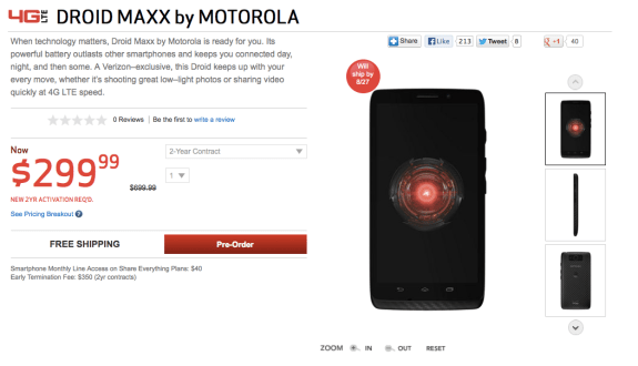 Droid MAXX and Droid Ultra shipping dates have slipped.