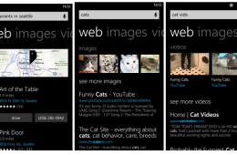 The slightly updated Bing on Windows Phone 8.