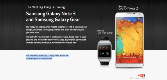 Verizon Galaxy Note 3 pre-orders are coming soon.