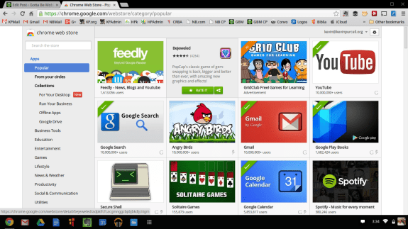 chromeos web app store