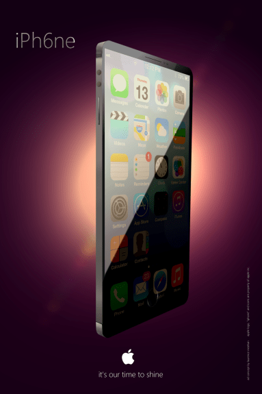 This new iPhone 6 concept shows an iPhone with a large edge-to-edge display.