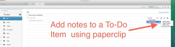 notesuite add notes to-dos