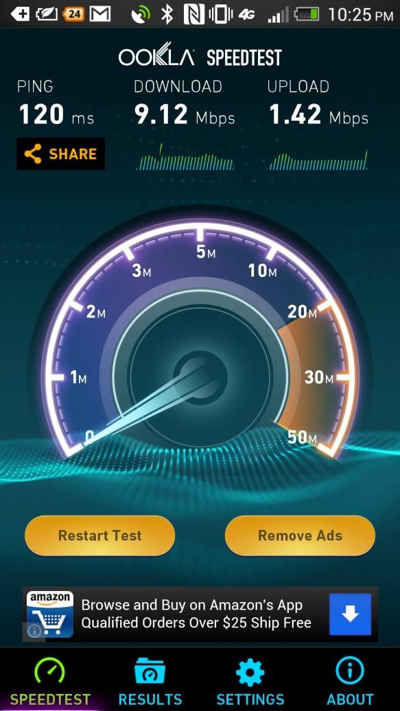 ATT 4G not LTE speed test