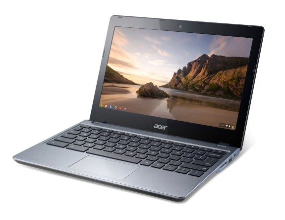 Acer Chromebook previewed at IDF forward angle