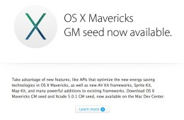 OS X Mavericks GM seed now available