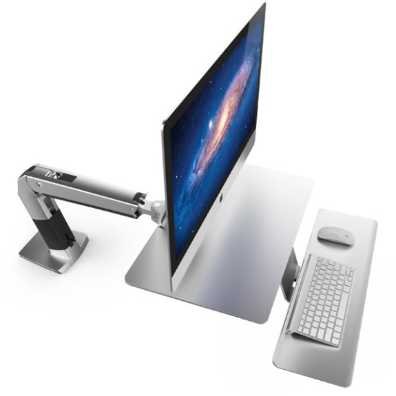 Ergotron's new iMac desk is a sit stand desk designed just for the iMac.