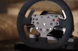 The Mad Catz Steering Wheel for Xbox One.