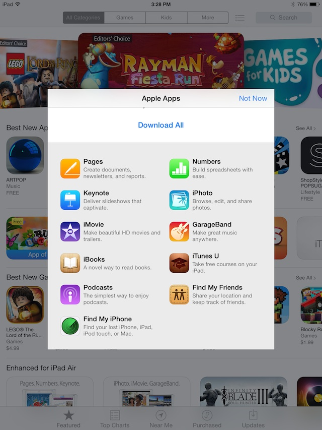Free Apps from Apple