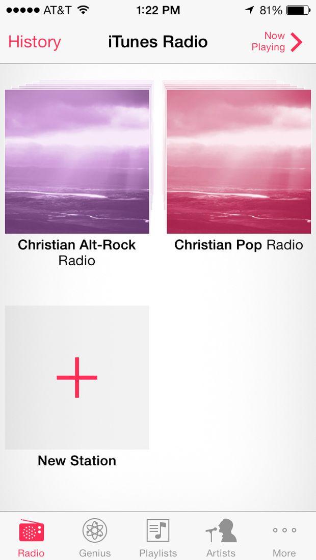 add radio in itunes radio on iphone