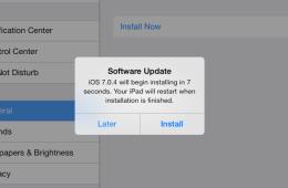 IOS 7.0.4 update warning iOS 7 jailbreak