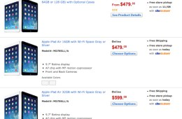 Walmart price list for iPad Air with $20 discount