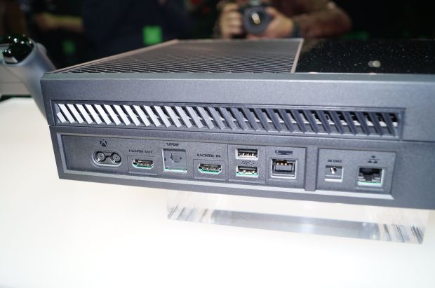 This is the back of the Xbox One, where there is no room for a Xbox One Component cable. Via Geekwire.