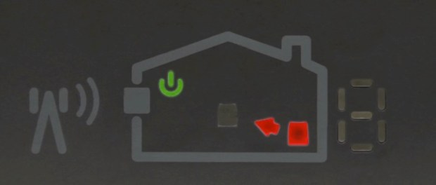 coverage unit with red icon meaning too far away