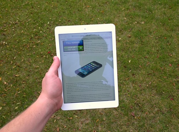 iPad Air Outdoors