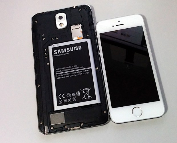 The Galaxy Note 3 battery is almost as big as the iPhone 5s.