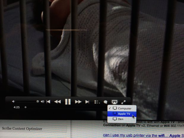 airplay in itunes play controls