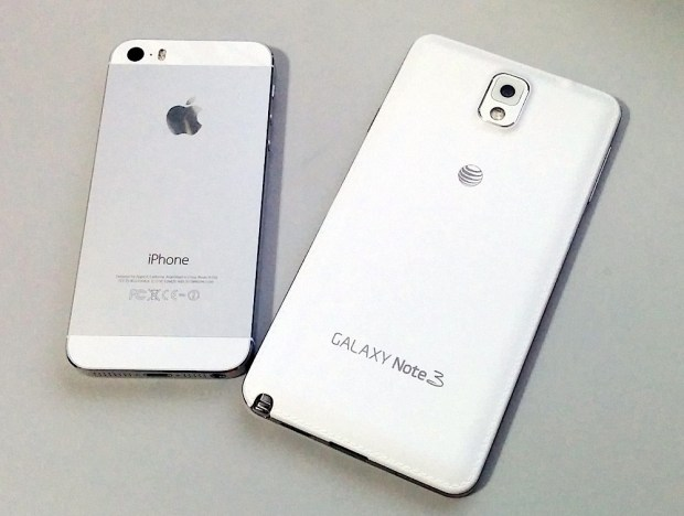 The iPhone 5s design is much nicer than the Galaxy Note 3.
