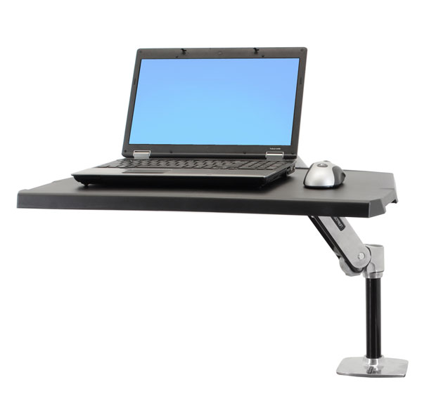 ergotron workfit p sit stand workstation with laptop