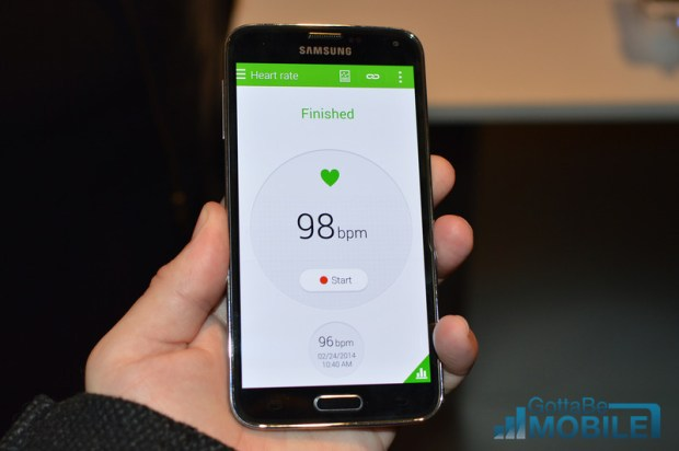 Galaxy S5 Heart Rate Monitor