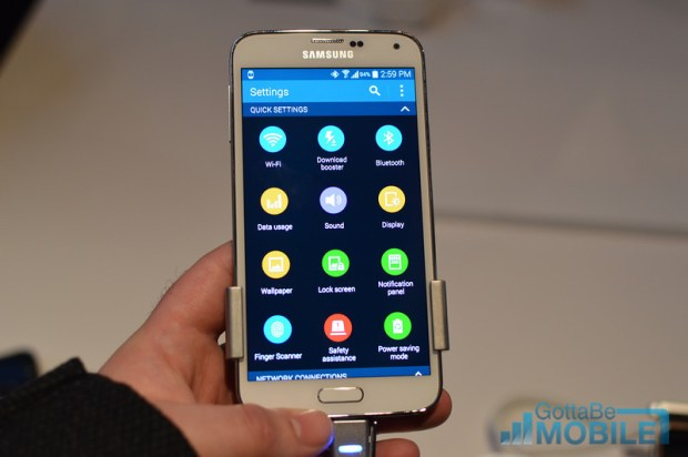how to change private mode password on galaxy s5