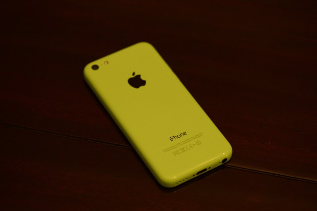 The iPhone 5c design is plastic and it comes in many colors.