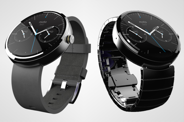 This is the Moto 360 Android Wear Smartwatch