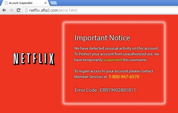A Netflix scam attempts to steal your information and your money.
