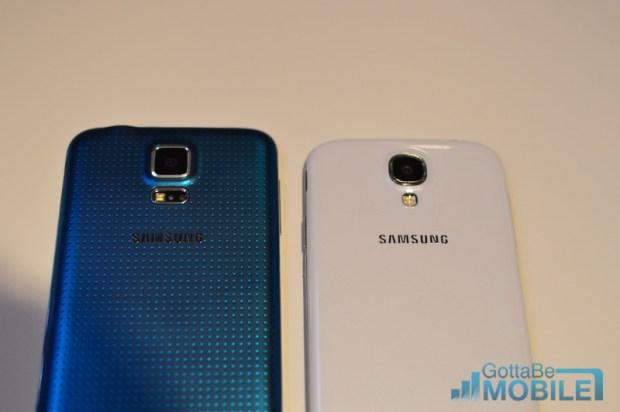The Galaxy S5 vs. Galaxy S4.