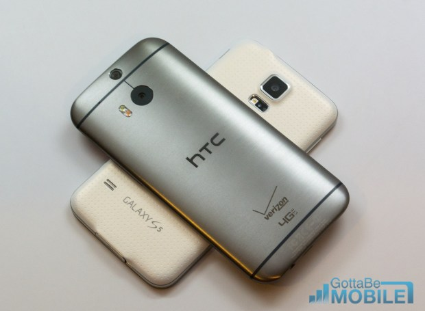 The HTC One M8 and Galaxy S5 performance and battery life are similar.