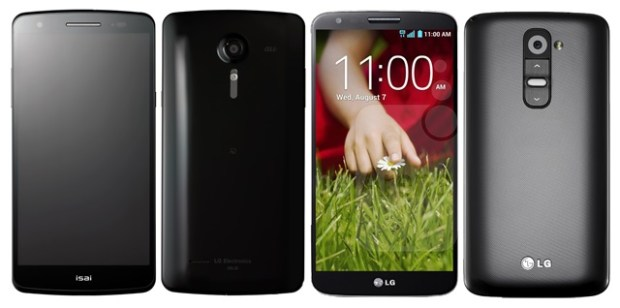 This is the LGL22 (left) and LG G2 (right)