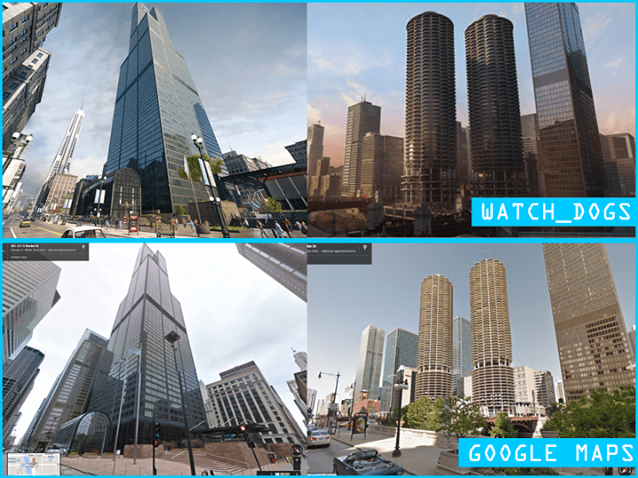 Watch Dogs Map Compared To GTA 5 GTA 4 Amp Chicago