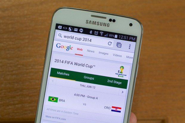 Google makes it easy to know the 2014 World Cup schedule.