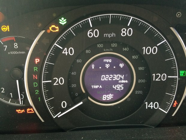 record mileage with iphone 5s camera
