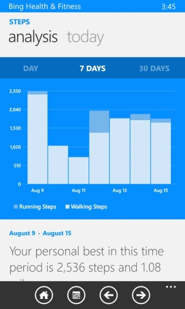 How to Use Bing Health to Track Your Steps with the Lumia 635 (20)
