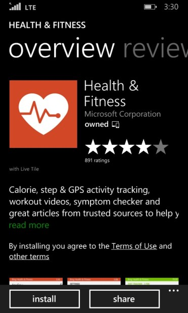 How to Use Bing Health to Track Your Steps with the Lumia 635 (6)