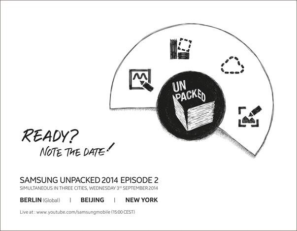 This invite is clearly for the Galaxy note 4 event, even though Samsung doesn't use the Note 4 name here.