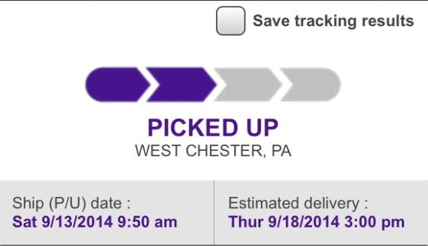 Early iPhone 6 delivery listed, but not likely. Via Reddit.