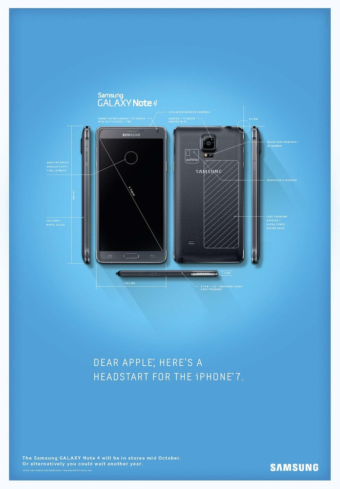 The full Galaxy Note 4 blueprint ad.