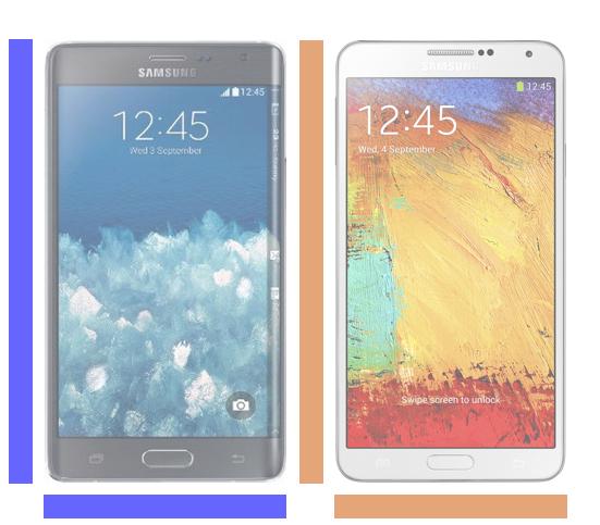 Galaxy Note Edge vs. Galaxy Note 3.