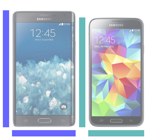 Galaxy Note Edge vs. Galaxy S5.