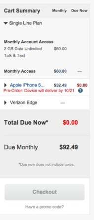 iPhone 6, Verizon Single Line Edge 2GB/mo