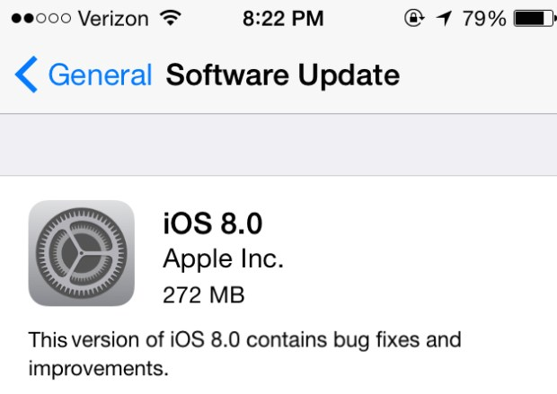 Here's how long the iOS 8 upgrade should take.