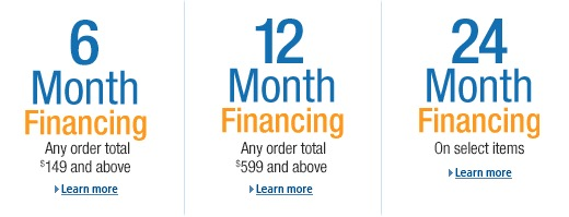 Here's what you can get special financing on.