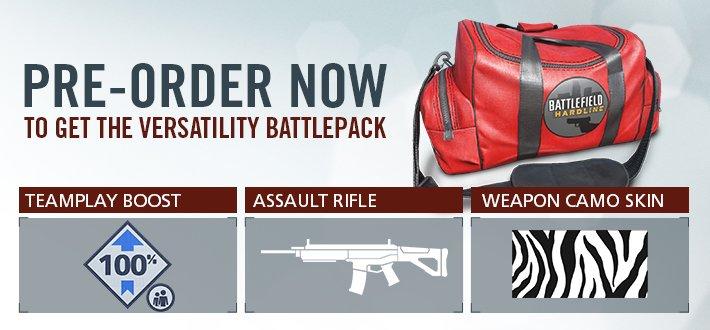 Score a pre-order bonus and pre-load the Battlefield Hardline release.