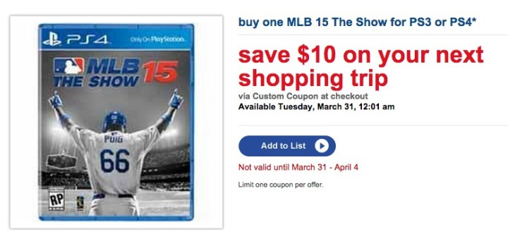 Save with MLB 15 The Show deals available right from the MLB 15 The Show release date.
