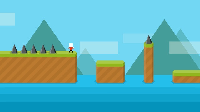 Jump at the last possible instance and try to land in the middle of the next platform.