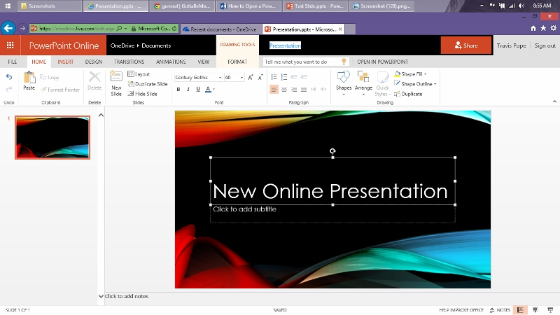 How to Open  Edit a PowerPoint Presentation Online Free